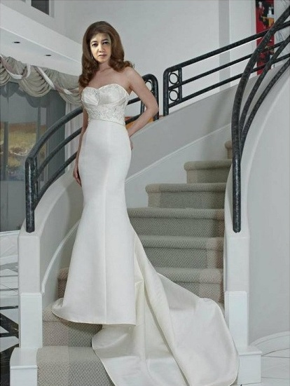 Long Back Wedding Gown